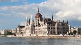 Building of Parliament in Budapest stock footage
