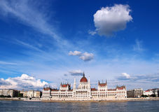 Building of Parliament in Budapest Stock Image