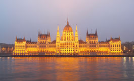 Building of Parliament, Budapest, Hungary Royalty Free Stock Photo