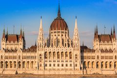 The building of the Parliament in Budapest, Hungary Royalty Free Stock Image
