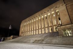 Building of parliament of Finland in Helsinki Stock Photography
