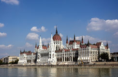 The building of the Parliament of Hungary stock photo