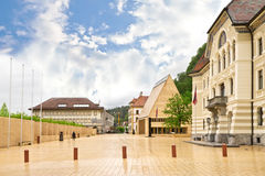 The building of parliaments of Liechtenstein royalty free stock photo