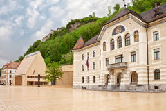 The building of parliaments of Liechtenstein Royalty Free Stock Photos
