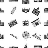 Building pattern icons in black style. Big collection of building vector symbol stock illustration. Building pattern icons in black style. Big collection of Royalty Free Stock Photos