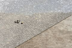 Building pavement street. View from above. Royalty Free Stock Photo