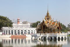 Building and Pavilion thai style in Bang Pa-in Palace, Ayutthaya Royalty Free Stock Image