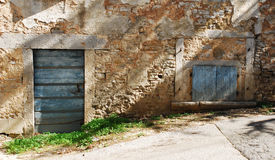 Building in Pazin. An abandoned historic old building in the central Istrian medieval hill town of Pazin in Croatia stock images