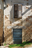 Building in Pazin. An abandoned historic old building in the central Istrian medieval hill town of Pazin in Croatia royalty free stock images