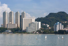 Building in penang , malaysia Stock Images