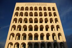 Building of people in Rome Royalty Free Stock Photo