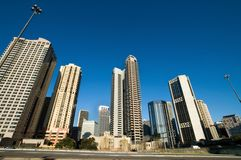Building perspective. Skyscrapers in sydney, weird perspective - wide angel lens Stock Photography