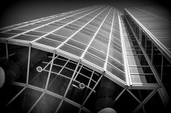 Building perspective in black and white Stock Photo