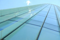 Building perspective (glass wall) Royalty Free Stock Photo