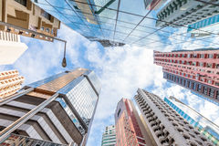Building Perspective Hong Kong Royalty Free Stock Photography