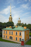 Building in Peter and Paul fortress St. Petersburg Stock Photos