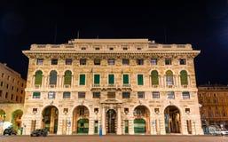 Building on Piazza della Vittoria in Genoa. Italy royalty free stock photos