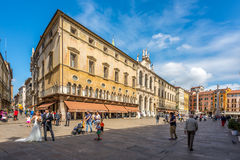 Building at the piazza Signiori in Vicenza Stock Image