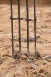 Building pillar for home construction Stock Photo
