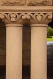 Building Pillars. A photograph depicts closeup of two building pillars Stock Photography