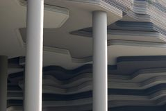 Building Pillars. A photo taken on the column structures of a building lobby foyer Stock Photography