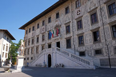 Building of Pisa Superiore University on Piazza dei Cavalieri Palazzo della Carovana in Pisa. Building of Pisa Superiore University on Piazza dei Cavalieri Royalty Free Stock Images