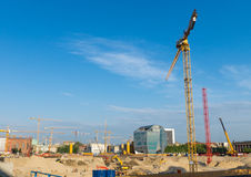 Building pit in Berlin Royalty Free Stock Photos