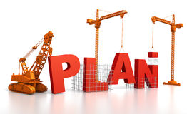 Building a Plan royalty free illustration
