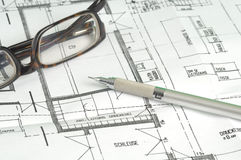 Building Plan Royalty Free Stock Images