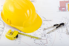 Building plan. For the construction of a house Royalty Free Stock Photo