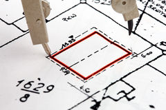Building plan Stock Image