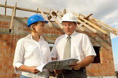 Building plan study Stock Images