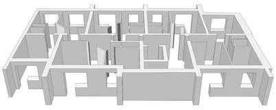 Building plan. Vector Royalty Free Stock Photos