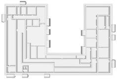 Building plan on white Royalty Free Stock Photos