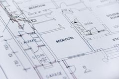 Building plans Stock Images