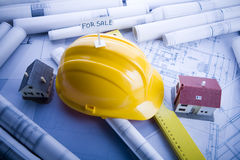 Building plans Royalty Free Stock Photography