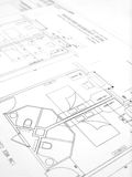 Building plans, hotel construction royalty free stock photos