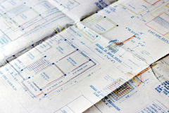 Building plans. Royalty Free Stock Photography