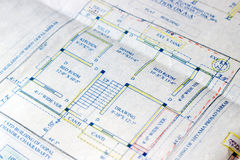Building plans. Royalty Free Stock Photo