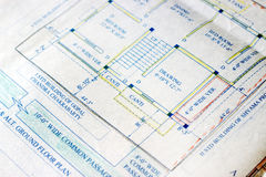 Building plans. Royalty Free Stock Images