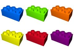Building Play Blocks. With different colors Stock Image