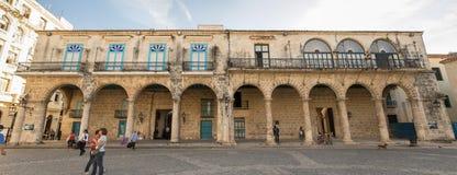 Building in Plaza de la Catedral in Old Havana, Cuba. Buildings in Plaza de la Catedral in Old Havana, Cuba - October 24, 2016 Royalty Free Stock Photo