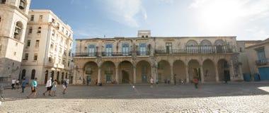 Building in Plaza de la Catedral in Old Havana, Cuba. Buildings in Plaza de la Catedral in Old Havana, Cuba - October 24, 2016 Stock Photography