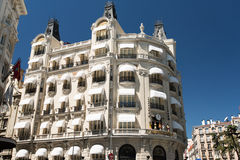 Building on Plaza de las Cortes Royalty Free Stock Photo