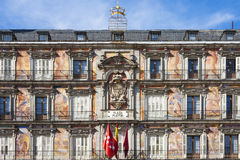 Building of the Plaza Mayor Royalty Free Stock Photography