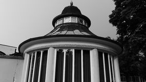 A building. In Podebrady in Central Bohemia B&W Stock Photography