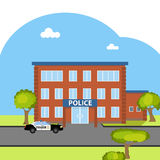 The building of the police Royalty Free Stock Images