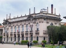 Building of the Polytechnic University of Milan royalty free stock photo