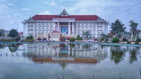 Building. Pond Laos place travel stock image