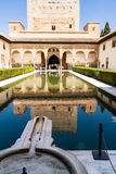 Building with pool. In the historic site of Alhambra in Spain Royalty Free Stock Photo